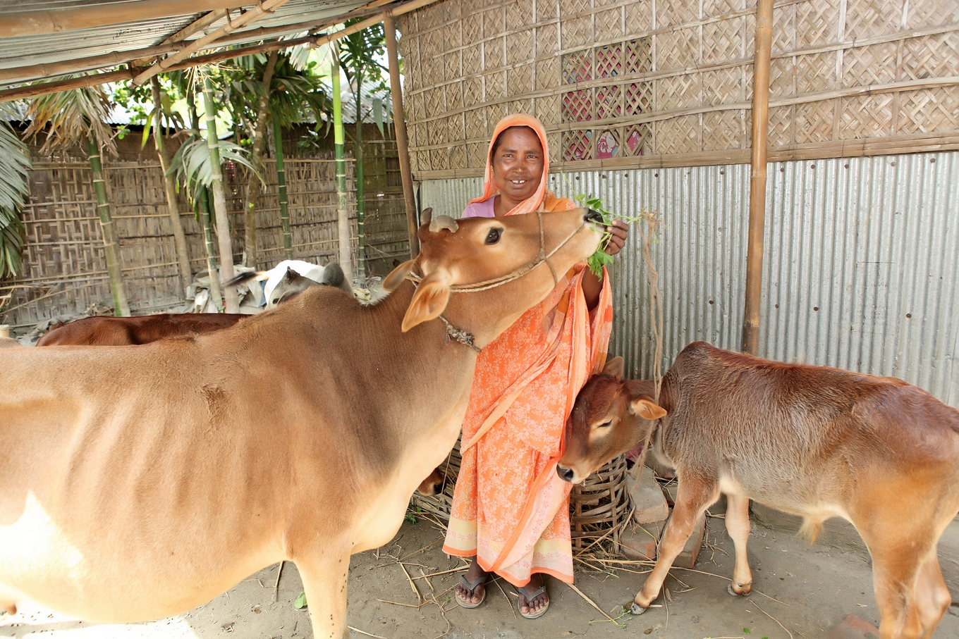 Momena, a participant in BRAC's program targeting the ultra-poor in Bangladesh.
