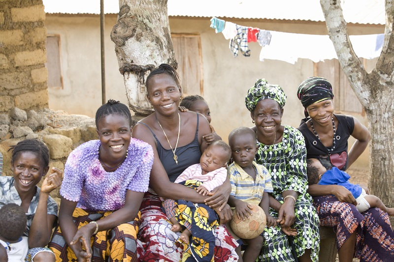 Mothers and children at a health forum in Port Loko, Sierra Leone (Credit: BRAC/Jake Lyell)