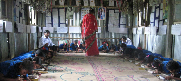 A primary school that is part of BRAC's Educational Support Program in rural Mymensingh