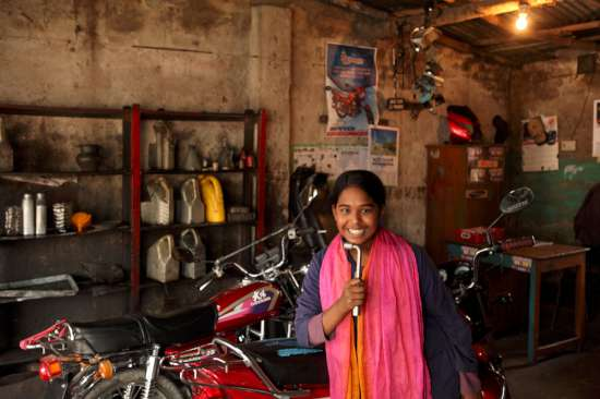 Khadija, the Bangladeshi motorcycle girl