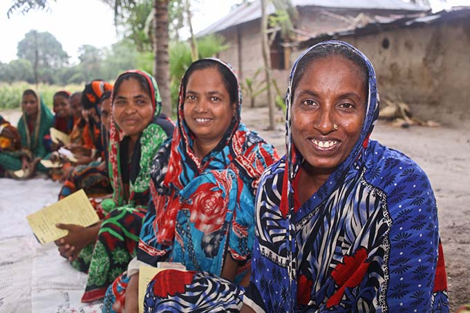 Microfinance clients at a village organisation meeting in Rajshahi
