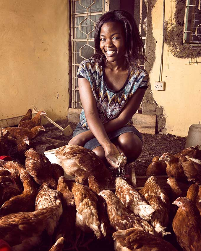 Belinda Mulutoaya obtained small loans for her poultry business through the club. Stephan Gladieu/World Bank