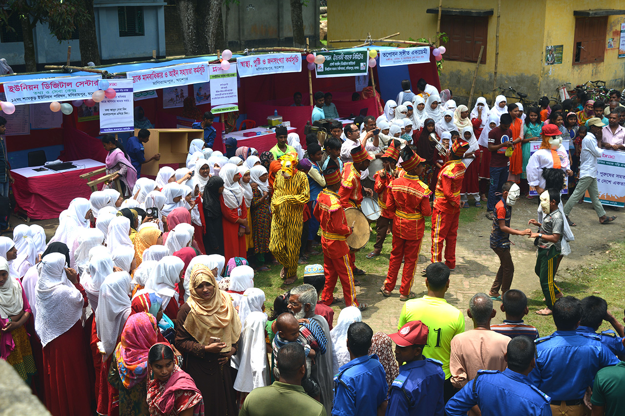 A community fair in Jashore, southern Bangladesh.